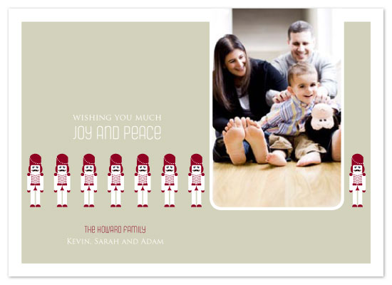 holiday photo cards - Toy Soldiers by Seedlings