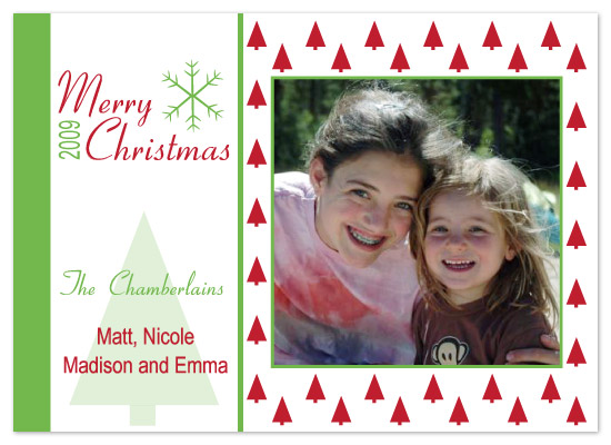 holiday photo cards - Christmas Trees by chamberlain