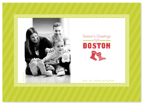 holiday photo cards - Boston Red Stockings by Sandy Pons