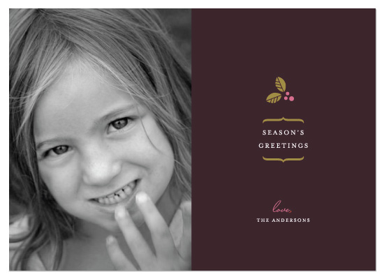 holiday photo cards - Delicate Holly Berry by kelli hall