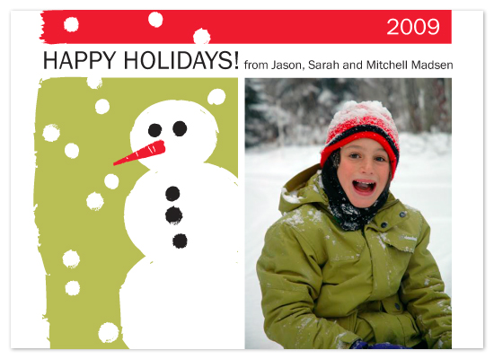 holiday photo cards - Snowman by Karen Glenn