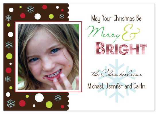 holiday photo cards - Merry & Bright by chamberlain
