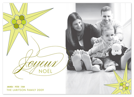 holiday photo cards - float + joy noel by Float Paperie