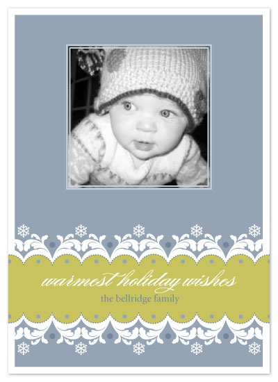 holiday photo cards - Snow Flourish by Seedlings