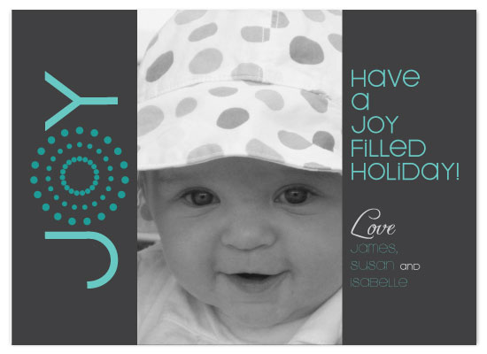 holiday photo cards - Polka Dot Joy by Christy White