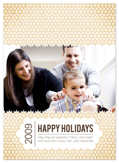 holiday photo cards - Geo Snowflakes by Brittany Burns