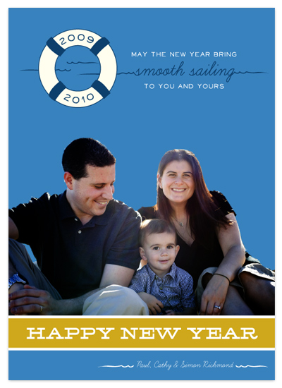 holiday photo cards - Nautical New Year by Frooted Design