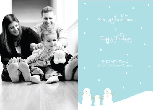 holiday photo cards - Snowing Family by Jessica Jenkins