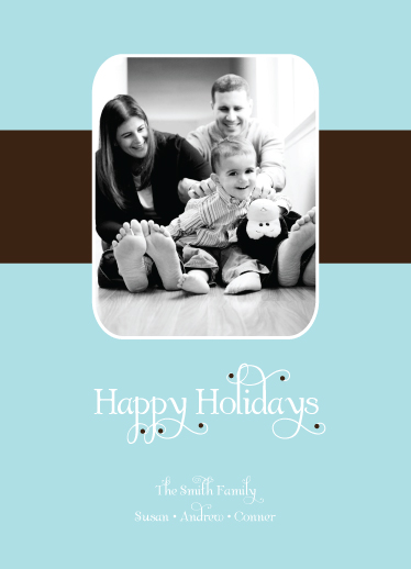 holiday photo cards - Brown Bow by Jessica Jenkins