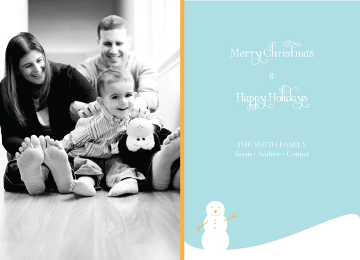 holiday photo cards - Snowman by Jessica Jenkins