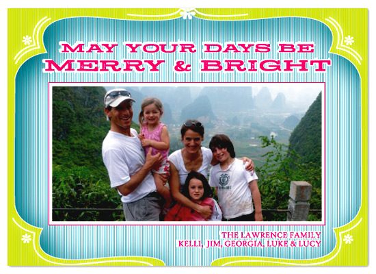 holiday photo cards - merry & bright by pinkeye design
