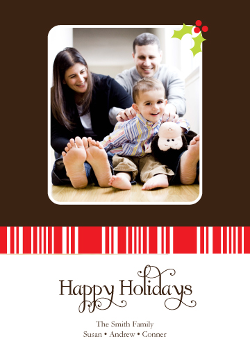 holiday photo cards - Holly & Candy Canes by Jessica Jenkins