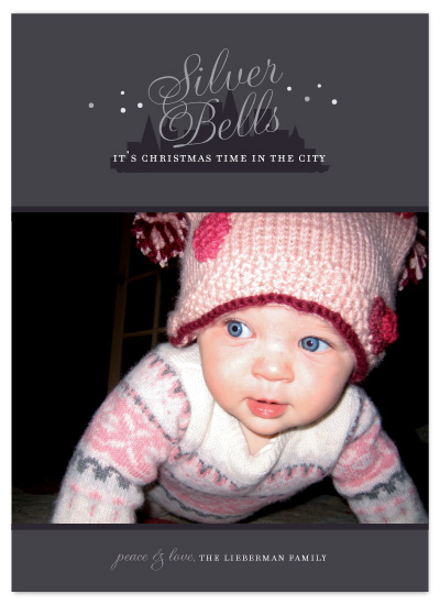 holiday photo cards - silver bells in the city by sweet street gals