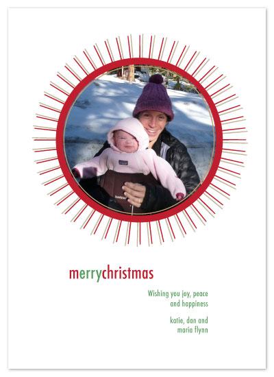 holiday photo cards - MerryStarburst by Lisa Travis