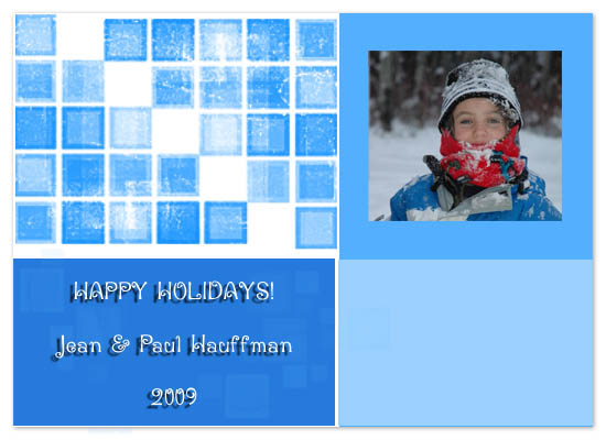 holiday photo cards - Boxes by Nehal