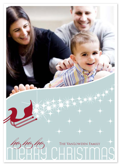 holiday photo cards - Santa's Sleigh by Seedlings