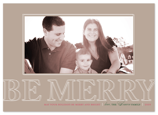 holiday photo cards - Be Merry by The Social Type
