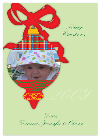 holiday photo cards - Vintage Christmas Ornament by Joyful Heart Design