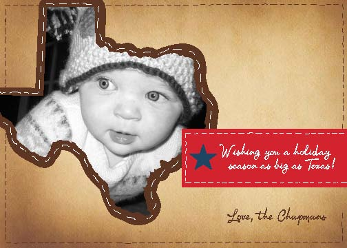 holiday photo cards - Texas Stich Holiday Card by B Etheredge