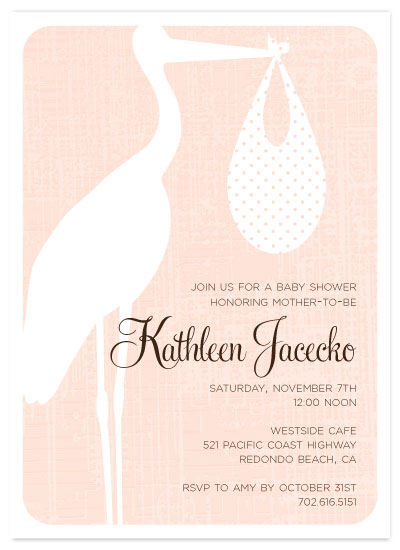 invitations - Sweet Stork by Three Kisses Studio
