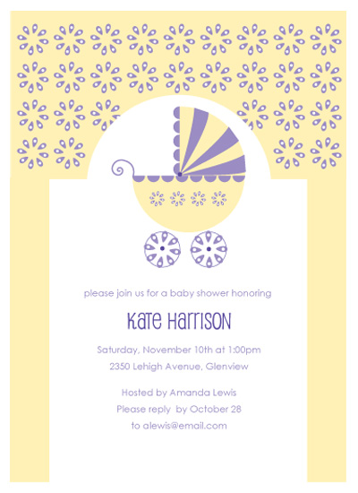 invitations - Baby Buggy Bliss by Kimberly FitzSimons