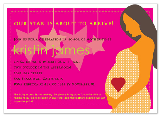 invitations - Baby Mama is the Star! by Sheila Sunaryo