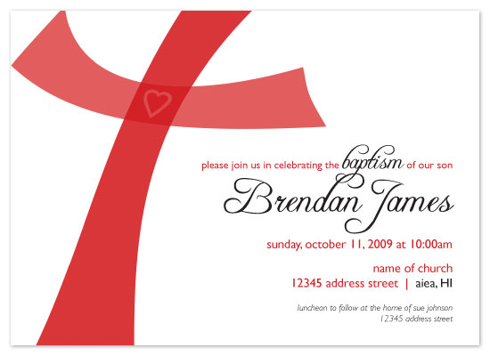 invitations - Whimsical Cross by Lauren Campbell