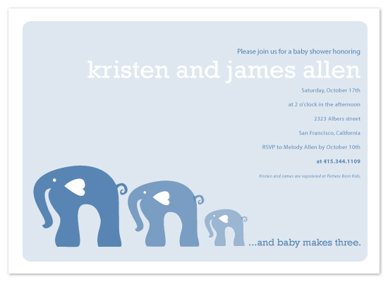 invitations - elephants by Paola Carpintero