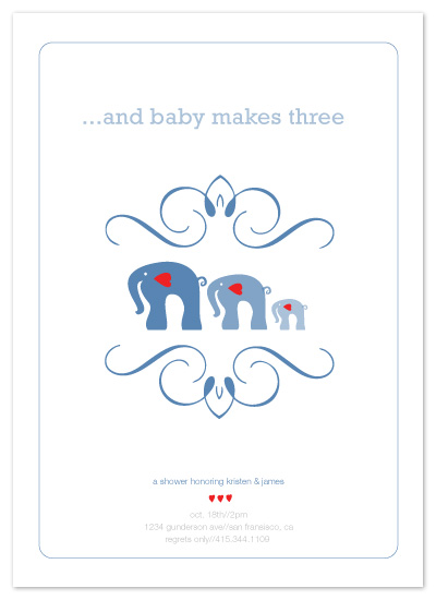 invitations - andbabymakesthree by Paola Carpintero