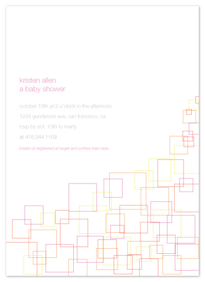 invitations - stroked squares by Paola Carpintero