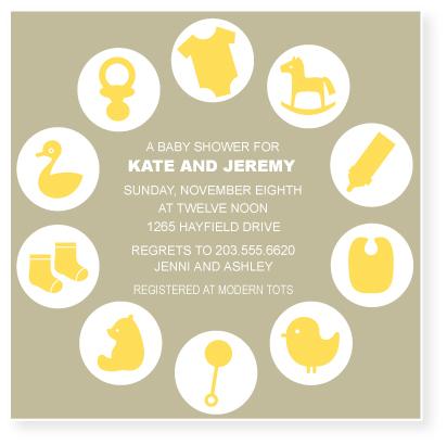 invitations - nursery clock by Marabou Design