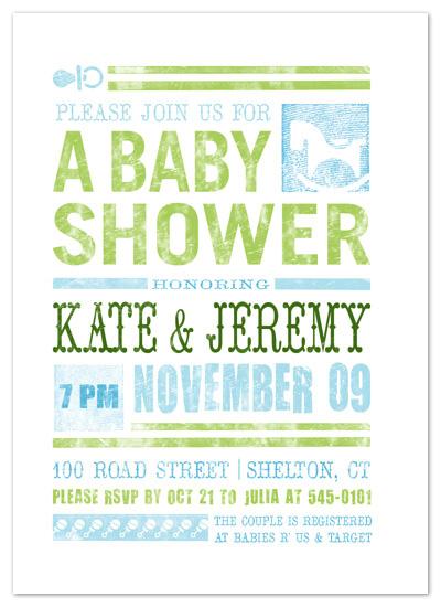 invitations - Rattles & Rockers Baby Shower Print by Rachael Schendel