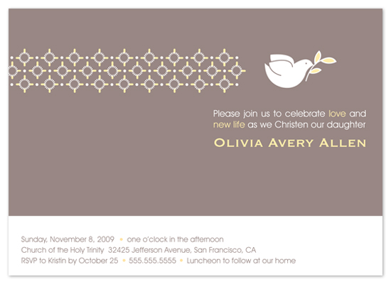 invitations - Dove on Gray by Two Pooch Paperie