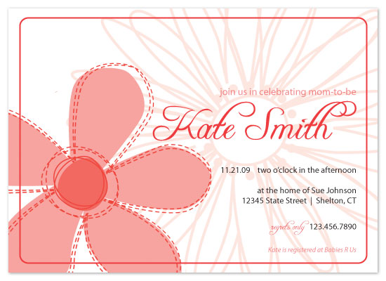 invitations - Pink Flowers by Lauren Campbell
