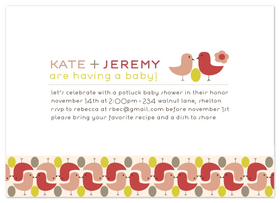 invitations - Birds with Golden Egg by lauren mummé