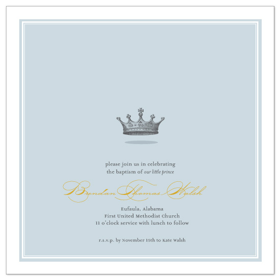 invitations - Our Little Prince by Katie Beth Owens