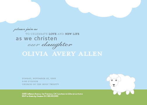 invitations - Little Lamb Baptism by B Etheredge