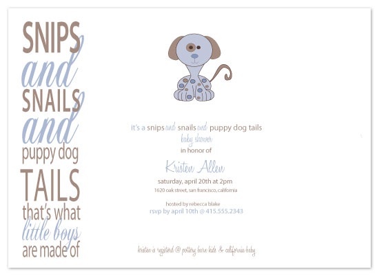 invitations - Snips & Snails & Puppy Dog Tails by Christy White