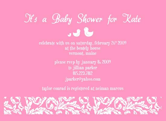 invitations - Pretty In Pink Duckies by Lisa Saliture