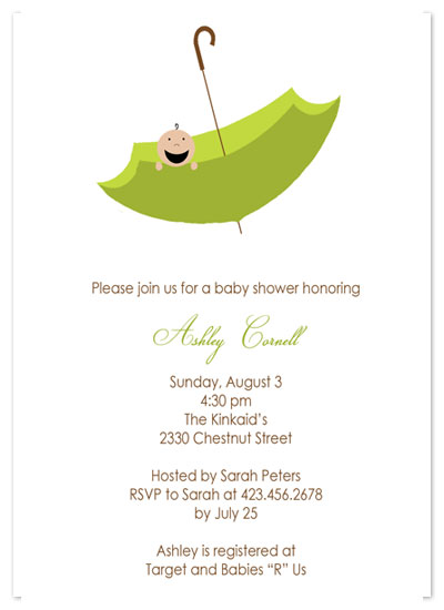 invitations - Umbrella Baby by Customized Stationary