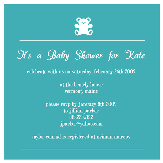 invitations - Teddy Blues Baby Shower by Lisa Saliture