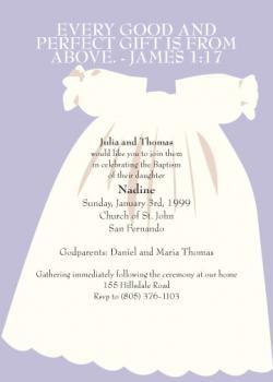 Christening Dress Invitation