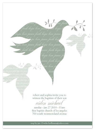 invitations - Faith, Hope, Love, & Peace by Christy White