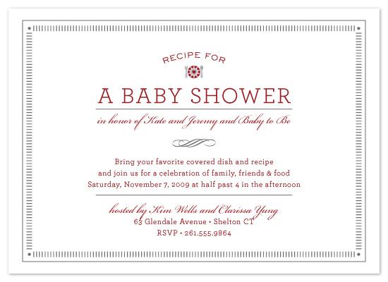 invitations - Recipe by Milkmaid Press