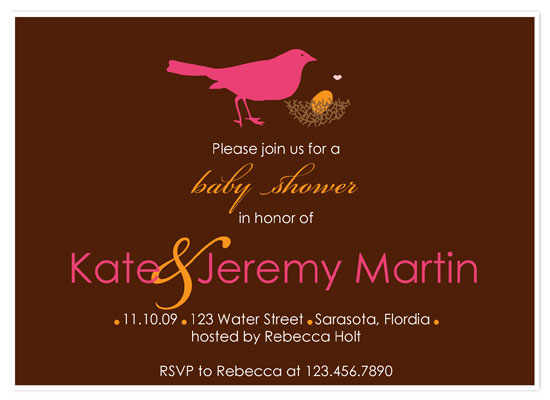invitations - Bird and Nest by Customized Stationary