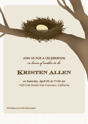 invitations - nest in a tree by B Etheredge