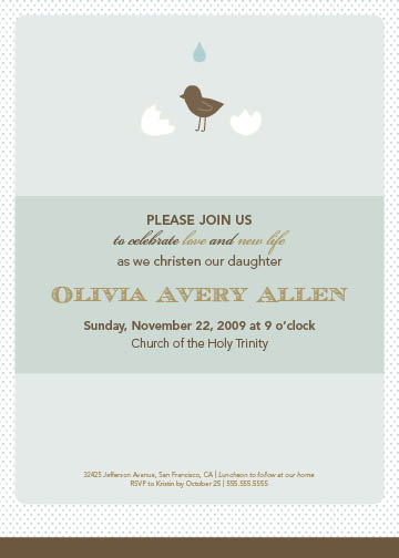 invitations - hatch christening by B Etheredge