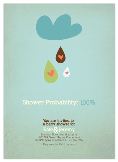 invitations - Shower Probability by Catherine Lalonde