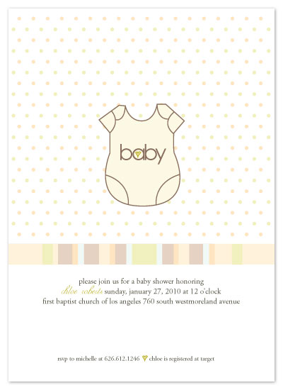 invitations - Baby is the Onesie by Christy White