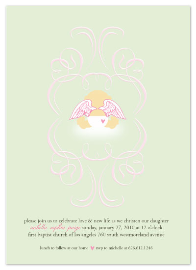 invitations - Sweet Angel by Christy White